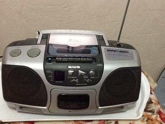 Rádio Cassete Cd Micro System Aiwa Portátil Csd Es327
