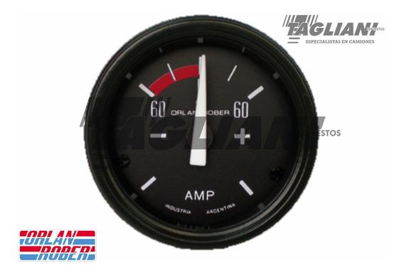Reloj Amperimetro -60 +60 Orlan Rober Fondo Negro