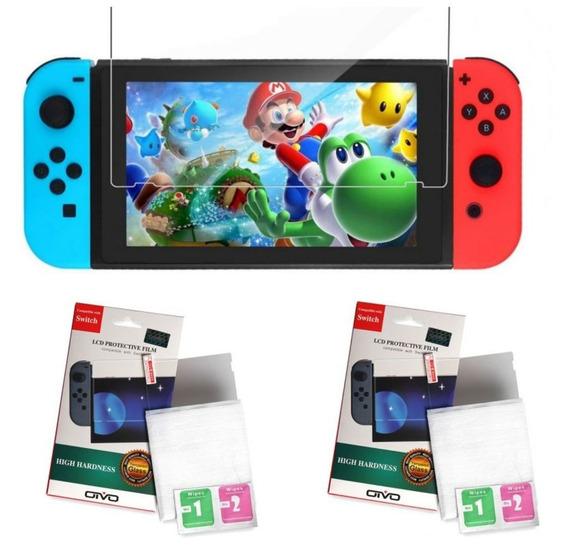 2x Película De Vidro Temperado Para Nintendo Switch Console