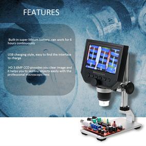 Microscópio Digital, Lcd 4.3 Pol. Aumento 1-600x Com Tripe.