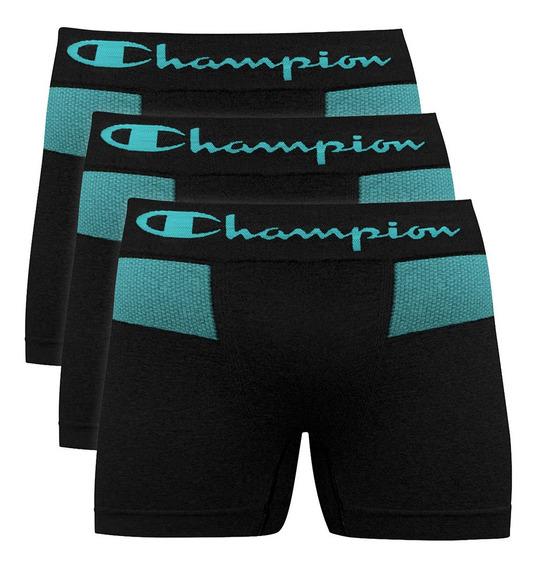 Kit C/ 3 Cueca Boxer Champion S/costura