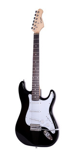 Guitarra Electrica Parquer Stratocaster Negra Con Funda