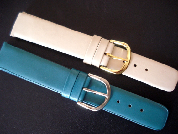 Lote 2 Pulseiras 18 Mm Classicas Sem Costura Azul E Creme
