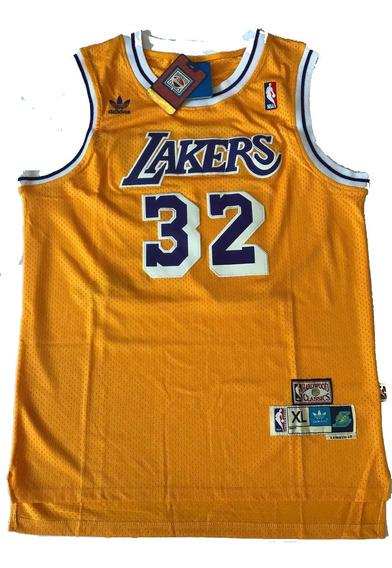Camisa Los Angeles Lakers Johnson 32 Amarela Pronta Entrega
