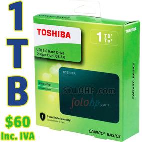 $60 Incl.iva Disco Duro Externo 1tb Toshiba Basic Nuevo2019