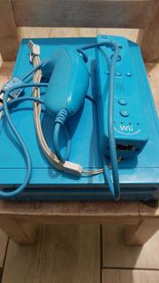 Nintendo Wii Azul Edición Especial Completo P Instalar Juego