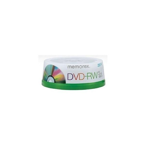 Dvd-rw Memorex Regrabables 4x 4.7 Gb Promo Bulk X 25unid