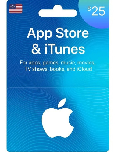 $25.00 Itunes, App Store, Applemusic, Mac, Tarjeta De Regalo