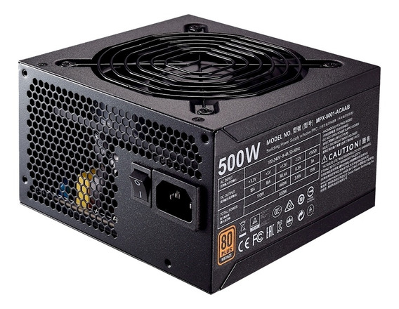 Fonte Cooler Master Mwe Bronze 500w 80 Plus Bronze Mpx-5001-acaab-br