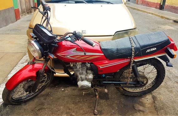 Remato Moto Rtm 125g Lam 2014 Rojo/5cambios/eléctrico-pedal