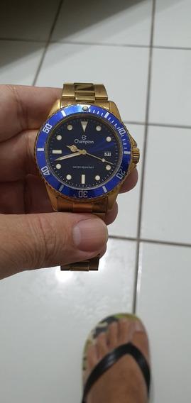 Relógio Champion Dourado Quartz
