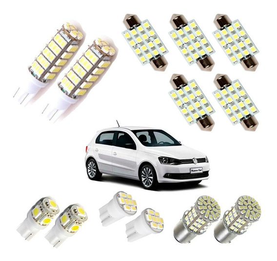 Kit Super Led Completo Gol G4 G5 G6 G7 Voyage Saveiro Parati