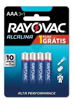 Kit 44 Pilhas Rayovac Lr3 Alcalina Aaa Palito 1.5v
