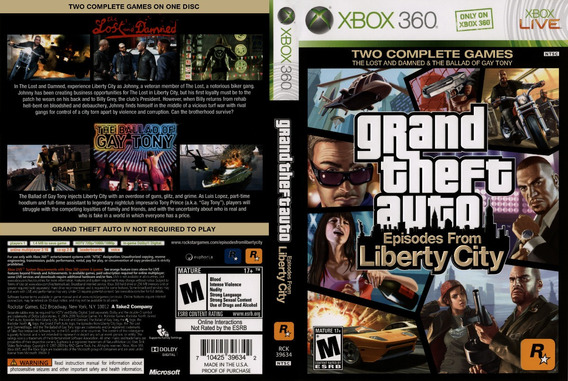 Grand Theft Auto Iv Episodes From Liberty City Xbox 360 Orig