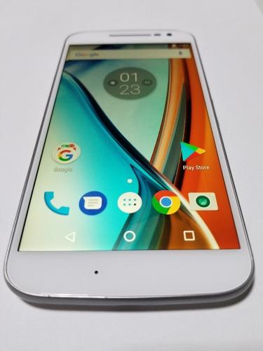 Motorola Moto G4 32gb Color Blanco Libre Cable Y Cargador