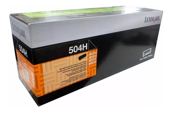 Toner Lexmark Original 504h Ms310 312 410 415 510 610 Backup