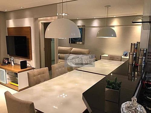 Imagem 1 de 11 de Apartamento Com 3 Dormitórios À Venda, 62 M² Por R$ 390.000,00 - Vila Scarpelli - Santo André/sp - Ap3158