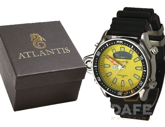 Relógio Atlantis A3220 Analogico C/ Caixa E Nf