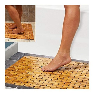 Tapete De Lujo De Bambú | Para Baño Cocina | 60x40x0.5 Cm