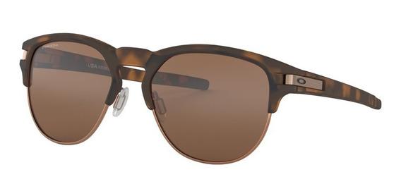 Óculos De Sol Oakley Latch Key Marrom Lente Prizm Tungstein
