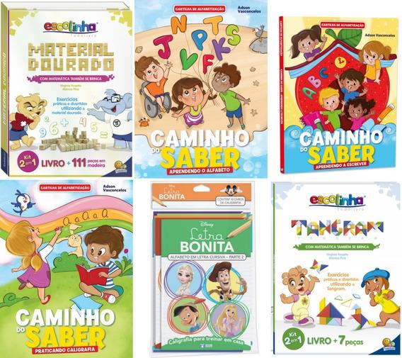 Kit De Alfabetização Infantil Livros+jogo Pedagógico+brinde