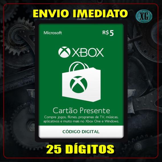 Xbox Gift Card 5 Reais Código 25 Dígitos [xbox Live]