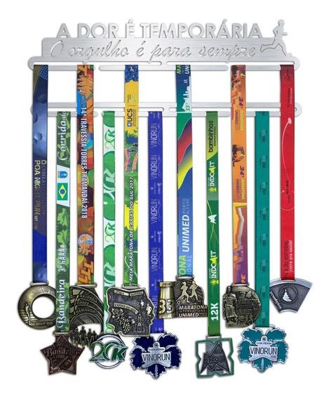 Porta Medalhas De Corrida Masculino - Inox Escovado