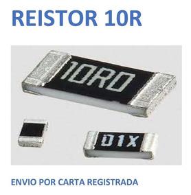 Resistor 10r Smd 20 Peças Envio Cr