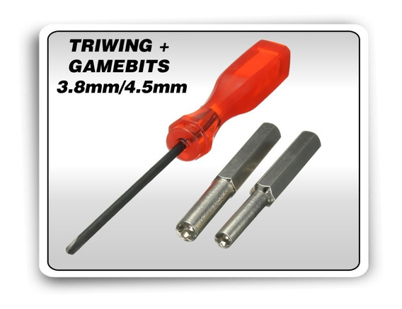 Kit Chaves Gamebit 3.8mm + 4.5mm + Triwing Gamecube N64 Snes
