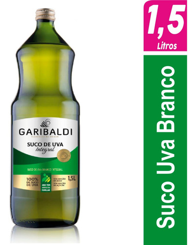 Imagem 1 de 6 de Suco De Uva Branco Integral Garibaldi 1,5 Litro