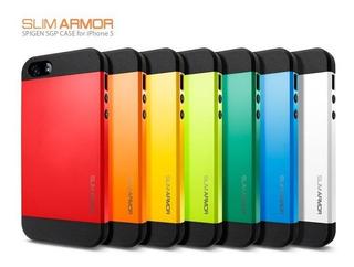Capa Case Dupla Silicone Slim Armor Spygen iPhone 5 5s
