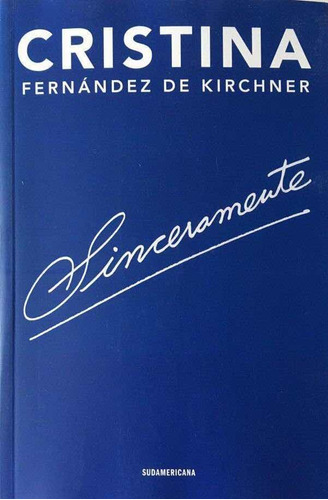 Sinceramente - Cristina - Sudamericana