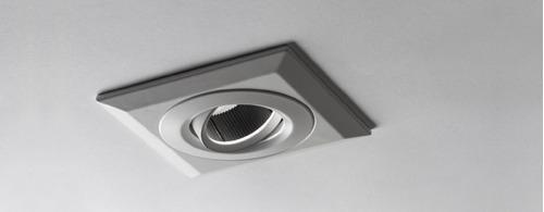 Imagen 1 de 3 de Spot Embutir Idea Aster C Dicro Led Gu10 Aluminio + Lampara