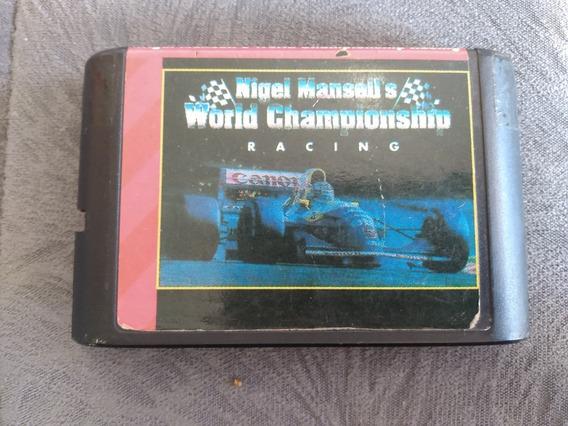 Cartucho Mega Drive Nigel Mansell World Championship Paralel