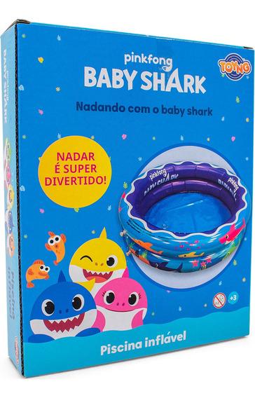 Piscina Infantil Inflável Baby Shark 37 Litros Toyng