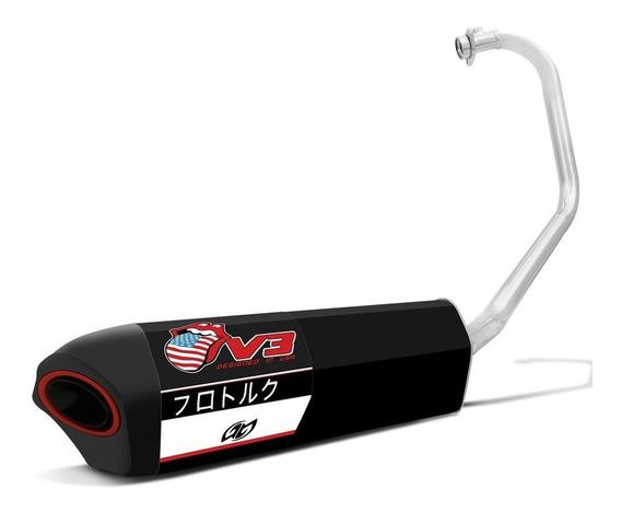 Escapamento V3 Fazer 150 Com Abraçadeira Alumínio - Pro Tork