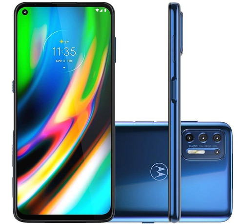 Celular Motorola Moto G9 Plus 128gb Azul Índigo 4gb Tela 6.8