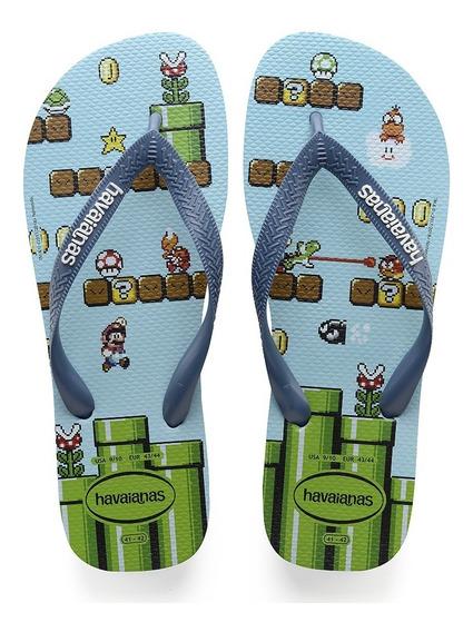 Sandalia Havaianas Super Mario Bros - Azul