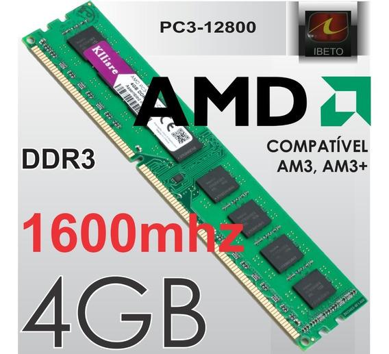 Memoria 4gb 1333 - 1600mhz Ddr3 Específica P/ Amd Am3 Am3+