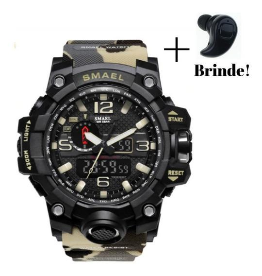 Relógio Masculino Militar Camuflado Digital Smael + Brinde!!