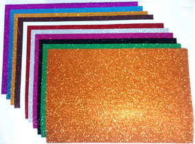 5 Unidades Folha De Eva Com Glitter 40 X 60 Cm