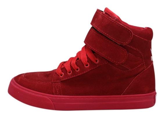 Tênis Sneakers Mad Bull Dr7 Staff Camurça Vermelho Promoção