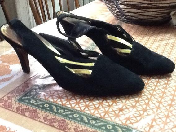 Zapatos De Gamuza Negros 40