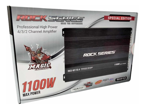 Imagen 1 de 4 de Amplificador 4 Canales Rock Series 1100 Watts