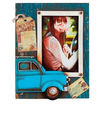 Porta-retrato Vintage Retrô Fusca Carro