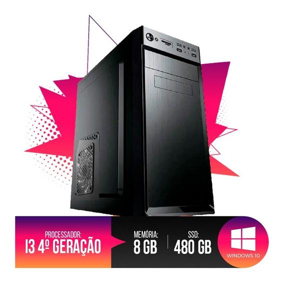 Desktop Pc I3 1155 8gb Ram, Hd Ssd 480gb, Até 12x Sem Juros