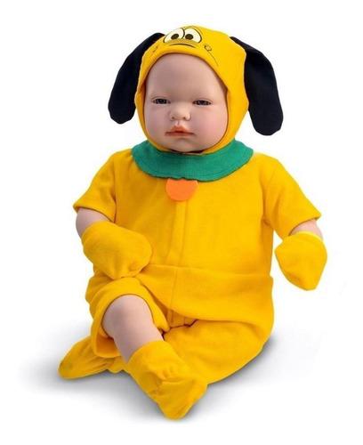 Imagem 1 de 4 de Roma Brinquedos Boneco Infantil Pluto Recém Nascido