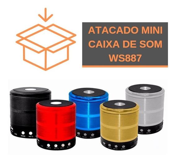 20 Unidades - Caixa De Som Mini Speaker Ws887 Bluetooth