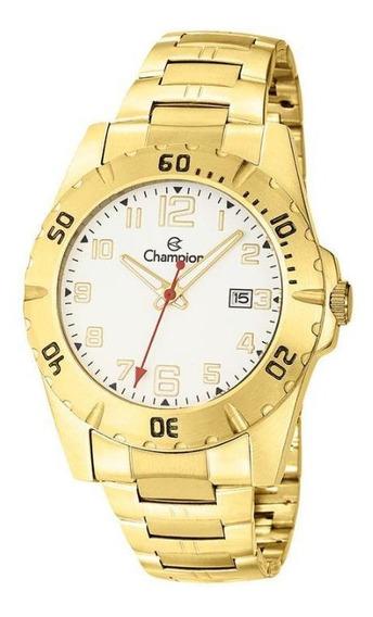 Relógio Champion Ca31300h Masculino Dourado - Branco