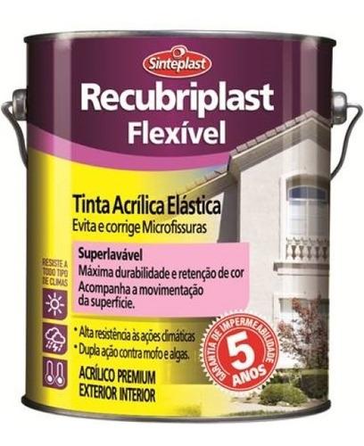 Imagem 1 de 2 de Tinta Acrílica Elástica Recubriplast Flexível 18 Lt
